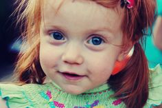 Seriously hope I have a little redheaded girl one day, only she'll have green eyes.  <3