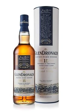 Glendronach 15 Year Old Tawny Port Finish Single Malt Whisky Cigars And Whiskey, Scotch Whiskey, Bourbon Whiskey, Alcohol Bottles, Single Malt Whisky, Beverage Packaging, Wine And Spirits, Distillery, Alcoholic Drinks