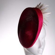 Pink Straw and Feather Flower Fascinator by CoutureHatsbyBeth, $165.00