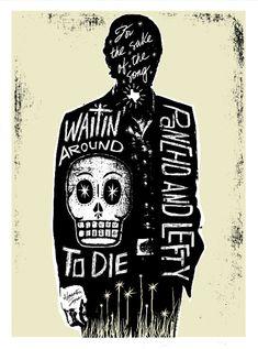 El Townes Van Zandt Print (Day of the Dead Rock Stars)