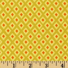 Michael Miller Origami Oasis Spot Starfruit from @fabricdotcom  Designed by Tamara Kate for Michael Miller, this cotton print is perfect for quilting, apparel and home decor accents.  Colors include orange, yellow and citron.