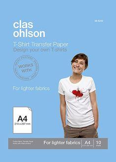T-shirtpapper Clas Ohlson