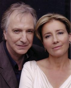 Alan Rickman & Emma Thompson- the only thing better than either one of them is them together! Emma Thompson, British Actresses, British Actors, Actors & Actresses, American Actors, The Song Of Lunch, Alan Rickman Always, I Look To You, Alan Rickman Severus Snape