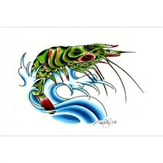 Item: 13281-SP-NW640          Title: Shrimp Artist: Nick WagnerFine art printed on heavy weight, 100 lb semi-gloss cover stock. Each print measures 12 inches x 18 inches (30.48 cm x 45.72 cm). Authorized Dealer of Steadfast Brand's fine products.