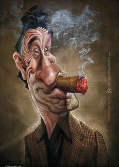 Robert De Niro | 29 Celebrity Caricatures That Are Incredibly Accurate