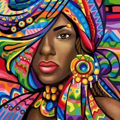 DIY Diamond Painting woman fantasy Home Decor Full Drill Nation Picture Of Rhinestone Mosaic Dia. DIY Diamond Painting woman fantasy Home Decor Full Drill Nation Picture Of Rhinestone Mosaic Diamond Embroidery Gift Black Girl Art, Black Women Art, Art Girl, Black Art, Painting People, Woman Painting, Painting Abstract, African American Art, African Women