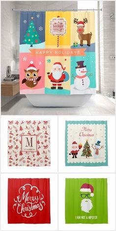 snowman penguin christmas vinyl shower curtain & hook set snow oh
