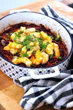 Gratinado de Batata Doce no Forno com Camarão - http://gostinhos.com/gratinado-de-batata-doce-no-forno-com-camarao/
