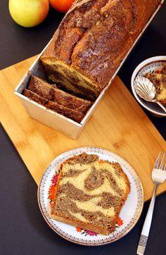 Apfel-Mohn-Kastenkuchen mit Zebramuster - Rezept von Törtchenfieber