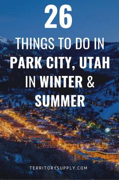 26 Awesome Things To Do In Park City, UT in Winter & Summer Whether the mountains are blanketed with winter snow or erupting with summer wildflowers, there's never a shortage of things to do in Park City, Utah. Summer City Outfits, Winter Outfits, Park City Utah Summer, Park City Utah Resorts, Stuff To Do, Things To Do, Summer Things, Winter Schnee, Visit Utah