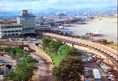 Década de 1970 - Aeroporto de Congonhas. Imagem obtida a partir de cartão postal.