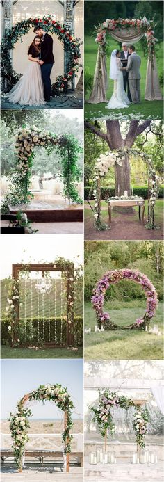Floral wedding ceremony arch ideas #weddingarch #weddingdecor #weddingbackdrops #flroal #wedding ❤️ http://www.deerpearlflowers.com/floral-wedding-arch-canopy-ideas/