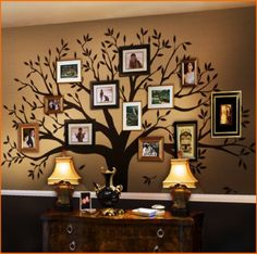 Family Tree Wall Decal. On the table maybe a digital one.