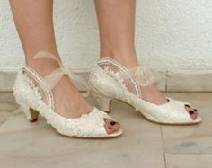 Wedding Shoes Bridal Shoes Embroidered by KUKLAfashiondesign