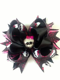 Monster High hair bow Inspired Hair Bow 5 by ZallistasBowtique, $12.50