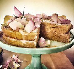 Persian Love cake. Get the recipe for this rose & almond cake on our blog -link below.