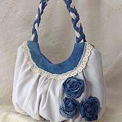 Джинсовая сумка в технике CRAZY – купить или заказать в интернет-магазине на Ярмарке Мастеров | Женская сумка на одной ручке с замком, подкладкой…