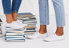 See Keds Shoes for women! Find canvas shoes and tennis shoes on the Official Keds Site. Choose colors and sizes as you browse our full collection of Keds women's shoes. Keds Shoes, Women's Sneakers, Canvas Sneakers, Keds Champion, Leather Slip Ons, Vans, Comfy, How To Wear, Beautiful
