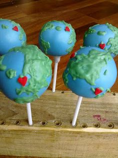 Globe cake pops!!  :) Now if they could just be VEGAN!
