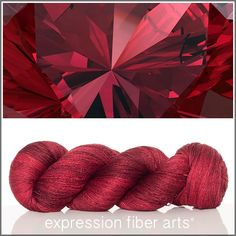 Expression Fiber Arts, Inc. - JANUARY GARNET YAK SILK LACE YARN, $39.00 (http://www.expressionfiberarts.com/products/january-garnet-yak-silk-lace-yarn.html)