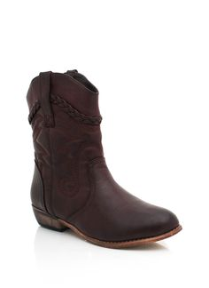 Love the simple heel and the pretty embroidery, from gojane    embroidered cowgirl booties $33.50