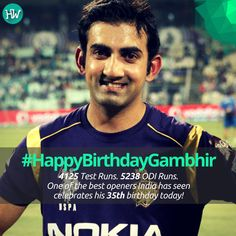 #HappyBirthdayGambhir, one of India's best openers and half of the best opening duo! #INDvNZ #IND #cricket