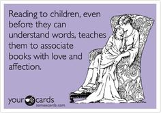 The importance of reading to children...