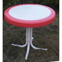 Patio Furniture Outdoor Dining Table Retro Pink - Tables