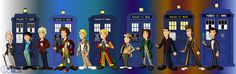 The 11 doctors line up by ~CPD-91 on deviantART