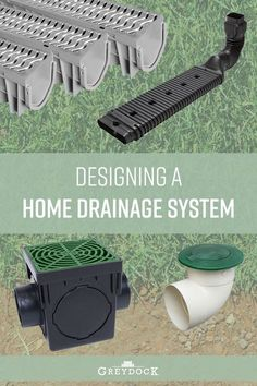 Are you having issues with standing water in your backyard or around your foundation but don't know what to do? This is a common issue homeowners face during the spring thaw and stormy season. Here's our guide to drainage solutions that work together to keep your yard free from water. #landscapedrainage Backyard Drainage, Gutter Drainage, Landscape Drainage, Backyard Landscaping, Landscaping Ideas, Drainage Ditch, Backyard Farming, Drainage Solutions, Drainage Ideas