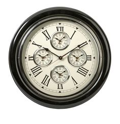 Imax home 68171 world map suitcase clock home decor clocks desk imax home 60105 22 five country wall clock home decor clocks wall clocks gumiabroncs Choice Image