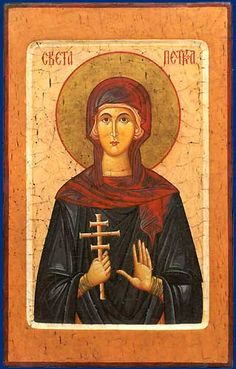 Petka (Parascheva) of Serbia - October 14 St P, Byzantine Icons, Divine Mercy, Orthodox Icons, Virgin Mary, Our Lady, Beautiful Paintings, Ikon, Renaissance