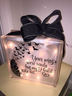 Hey, I found this really awesome Etsy listing at https://www.etsy.com/listing/262866091/wings-were-ready-lighted-glass-block