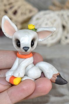 Polymer Clay Kawaii, Polymer Clay Animals, Polymer Clay Crafts, Polymer Clay Projects, Polymer Clay Creations, Dog Drawing Simple, How To Make Clay, Cute Cartoon Drawings, Polymer Clay Sculptures