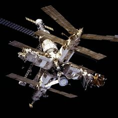 Mir from STS-81 - Mir (station spatiale) — Wikipédia