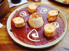 La biznaga, Oaxaca - Restaurant Reviews & Photos - TripAdvisor. Guava mole with chicken wrapped around plantains.