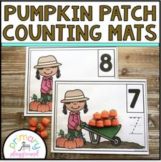Pumpkin Patch Counting Mats 1 - 20