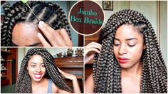 Crochet Jumbo Box Braids in 2 Hours [Video] - http://community.blackhairinformation.com/video-gallery/braids-and-twists-videos/crochet-jumbo-box-braids-2-hours-video/