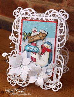 Card made using Spellbinders Mystical Embrace and Polka Doodles image from…