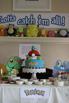 Some great ideas plus printables: Max's pretty-awesome Pokemon party