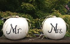 Harvest Fall Wedding Reception Decor Mr and Mrs by aRestfulHome, $40.00