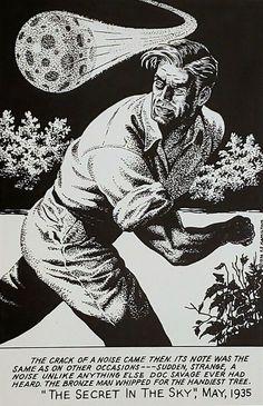 THE SECRET IN THE SKY by Frank Hamilton Pulp Art, Savage, Hamilton, The Secret, Darth Vader, Hero, Sky, Fictional Characters, Adventurer