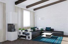 Schwarz Und Blau Wohnzimmer Ideen - Loungemöbel