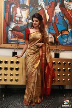 Actress Aathmika Cute Photos at Kannai Nambathey Movie Launch Kerala Saree Blouse Designs, Bridal Blouse Designs, South Indian Actress, Beautiful Indian Actress, South Actress, Wedding Saree Collection, Saree Poses, Blouse Models, Elegant Saree