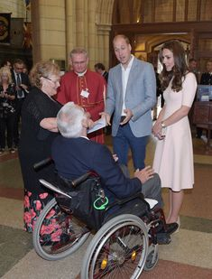 Kate Middleton Photos Photos - Prince William, Duke of Cambridge and Catherine, Duchess of Cambridge speak to Mike Hicks as they visit Truro Cathedral on September 1, 2016 in Truro, United Kingdom. - The Duke