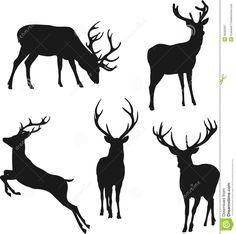 Silhouettes of deer. Silhouette deer on white background , Hirsch Silhouette, Deer Head Silhouette, Silhouette Painting, Silhouette Clip Art, Animal Silhouette, Hirsch Illustration, Deer Illustration, Animal Drawings, Art Drawings