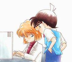 Kudo-kun, please stop looking over my shoulder. --Detective Conan--