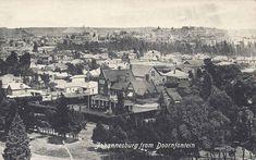 Johannesburg from Doornfontein Johannesburg City, Water Sources, Afrikaans, South Africa, Paris Skyline, 19th Century, Maine, History, Street