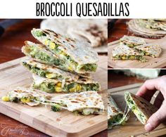 Broccoli Quesadillas 29 Lifechanging Quesadillas You Need To Know About  http://www.homecookingadventure.com/recipes/broccoli-quesadillas