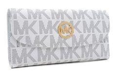 MICHAEL Michael Kors Jet Set Logo Checkbook Wallet